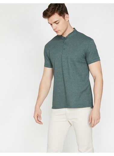 Koton Hakim Yaka T-Shirt Yeşil